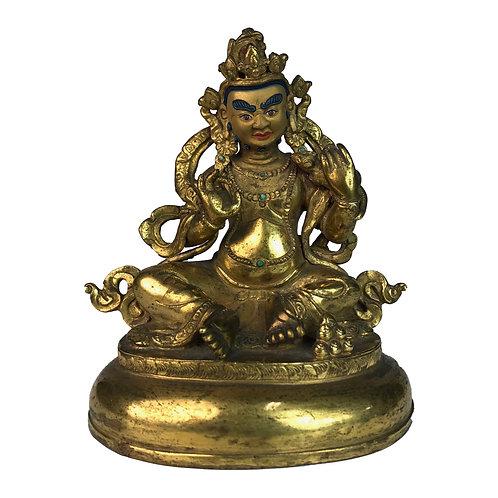 特殊財神-5 銅 全鎏金 手工 尼泊爾 Special Jambala Fully Gold Handmade Nepal 9x12cm / 0.5kg