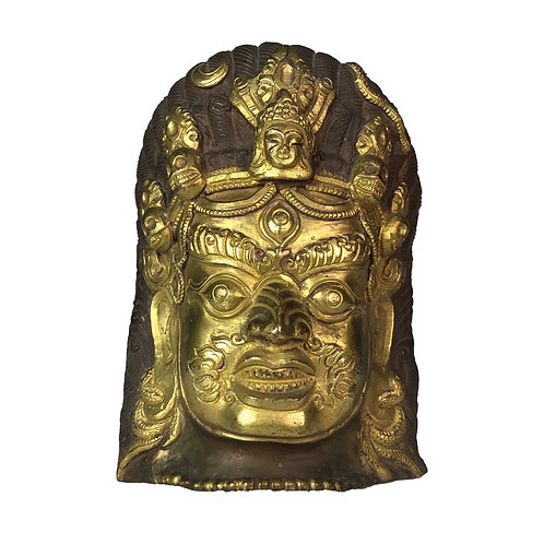 瑪哈嘎拉 面具 銅鎏金 Wrathful Mask (4)