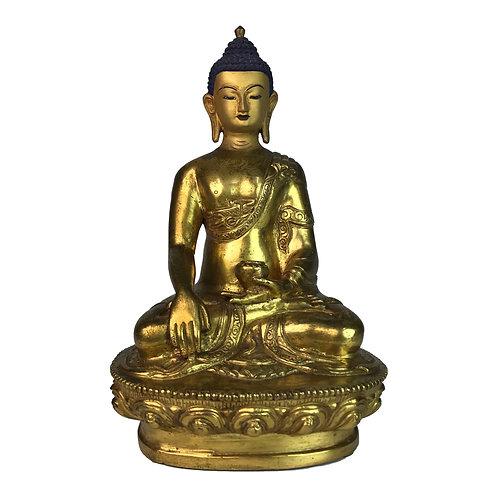 釋迦佛-2 銅 全鎏金 手工 尼泊爾 佛像 Sakyamuni Buddha Copper Nepal 13x19.5cm / 1.2kgs