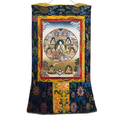 薩迦派 (B) 唐卡 Sakya Master Thangka 65x117cm