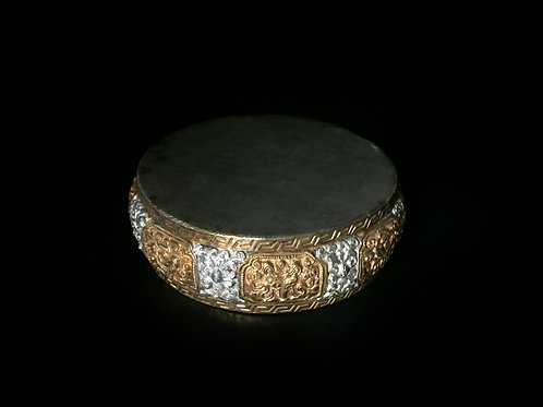 手曼達 銅鎏金鎏銀 尼泊爾 Hand Mandala Copper Gold & silver Gilted 直徑 D10cm