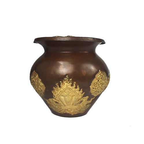 米盒 (5) 銅 鎏金Rice Box Copper Gold 9cm