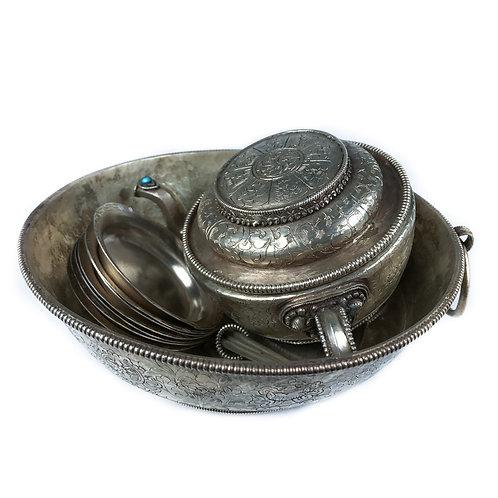 財神水供盤 小 (B) Jambala water offering銅鎏銀手工 尼泊爾製