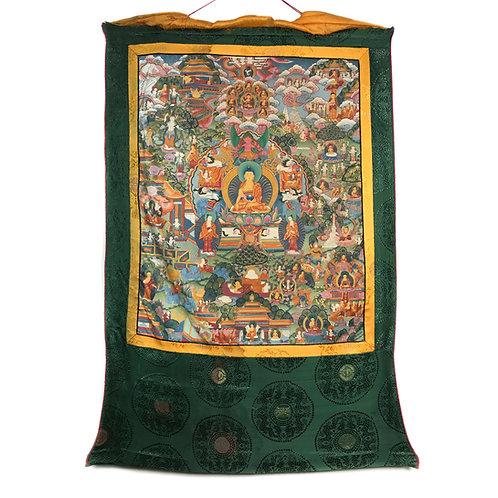 佛的故事 (E) 唐卡 Buddha Story Thangka 59x89cm