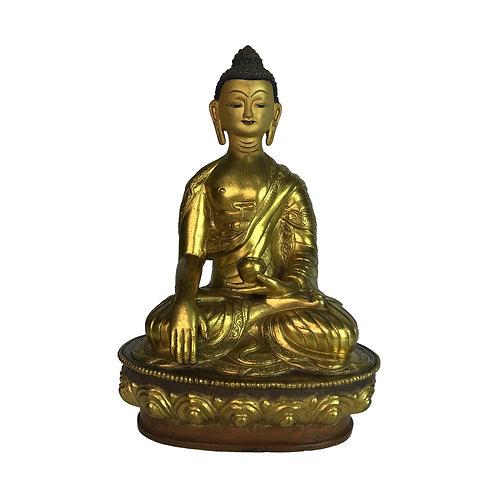 釋迦佛-1 銅 全鎏金 手工 尼泊爾 佛像 Sakyamuni Buddha Copper Handmade 14x20cm / 1.3kgs
