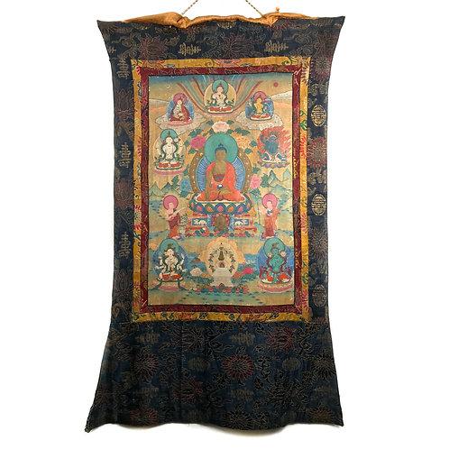 佛的故事 唐卡 Buddha Story Thangka 70x106cm