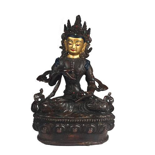 """金剛薩垛 銅 尼泊爾 佛像 Varja Satwo Statue Copper Nepal 8"""" (20.5cm)"""