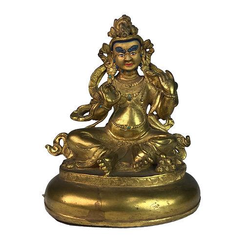 特殊財神-6 銅 全鎏金 手工 尼泊爾 Special Jambala Fully Gold Handmade Nepal 9x12cm / 0.5kg