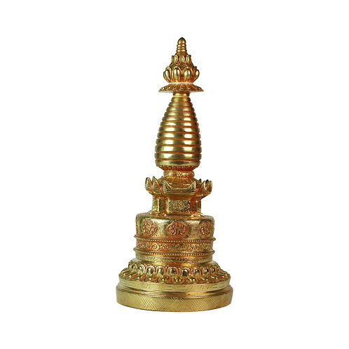 噶當塔/舍利塔 銅 全鎏金 Kadampa Stupa Copper Fully Gold 29cm (2)