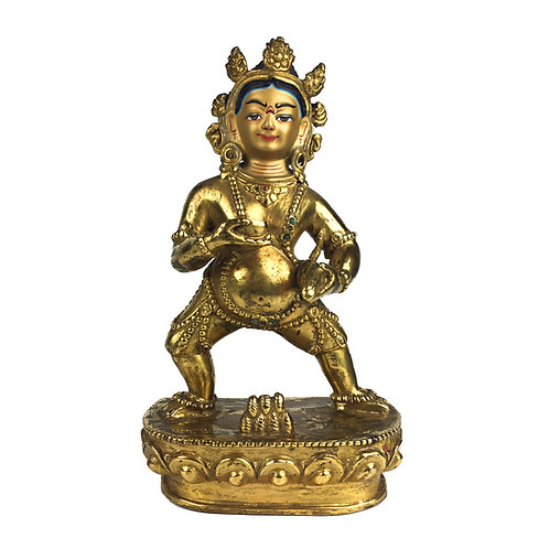 "黑財神 銅全鎏金 尼泊爾 佛像 5 吋 Black Jambala Statue Copper Fully Gold 5"" (13 cm)"