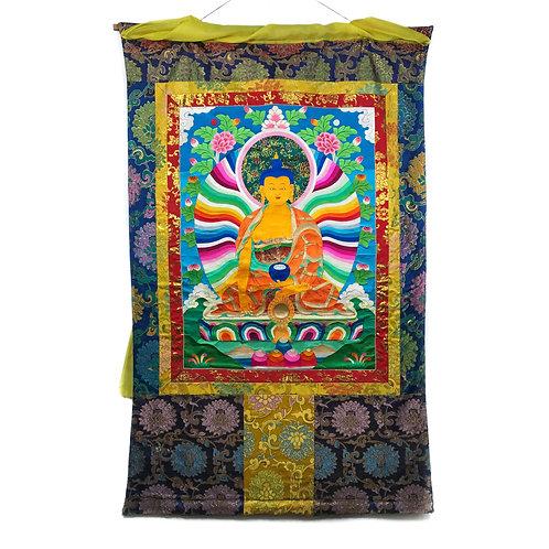 釋迦佛 堆繡 唐卡 Shakyamuni Cloth Thangka 85x136cm