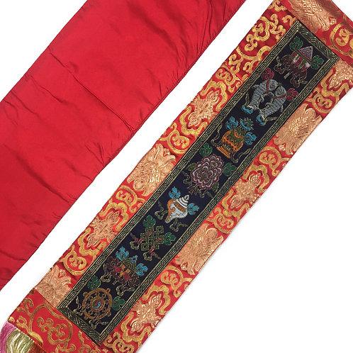 八吉祥 直布/幡 一對 Tashi Tagey cloth / pair 18 x 73 cm