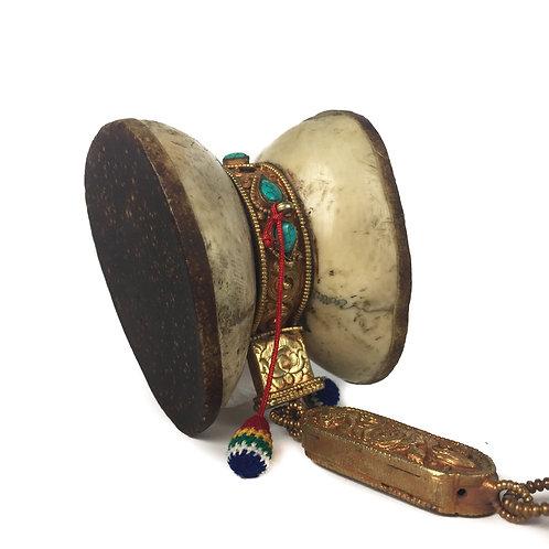 手鼓 骨 Bone Damaru Drum 7.5x6x6.5cm (1)