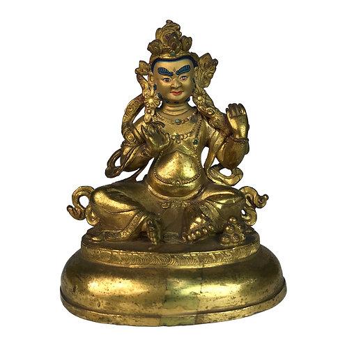 特殊財神-7 銅 全鎏金 手工 尼泊爾 Special Jambala Fully Gold Handmade Nepal 9x12cm / 0.5kg