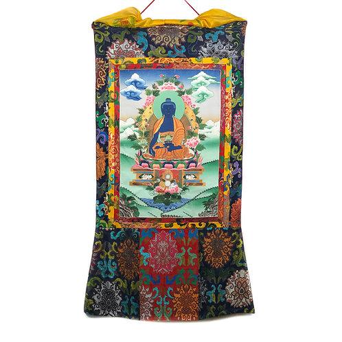 藥師佛 (A) 唐卡 Medicine Buddha thangka 76x148cm
