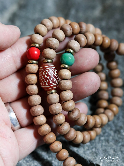 檀香木念珠 108 Sandal Wood Mala Prayer Beads 108