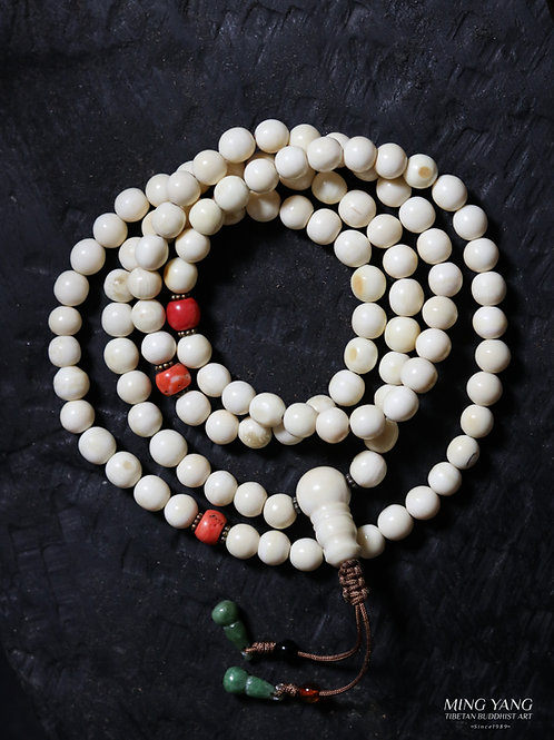 骨念珠 108 Bone Mala Prayer Beads 108