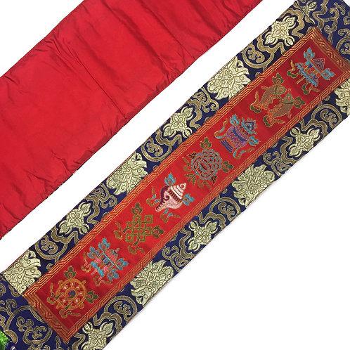 八吉祥 直布/幡 一對 Tashi Tagey cloth / pair 73 x 18 cm