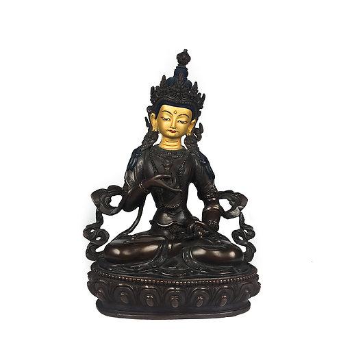 """金剛薩垛 銅 手工 尼泊爾 Varja Satwo Statue Copper Handmade Nepal 8"""" (21.5cm)"""