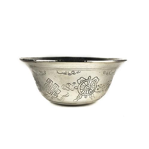 八供杯 (小) 銅鍍銀 (無腳) Offering cups (S) silver plated Taiwan D6.3cm H2.5cm (8pcs/set)