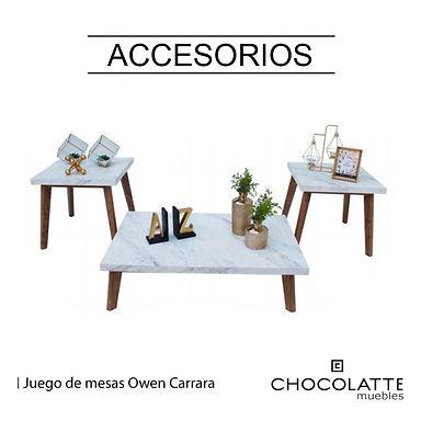 Set de mesas Owen Carrara