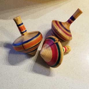 Hardwood Spinner Tops
