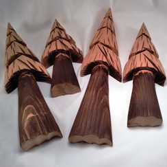 Wall Trees, Redwood, 4 sizes