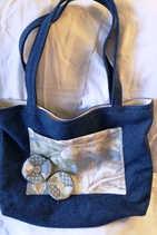Denim & Material Medium Size Bag