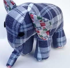 Plush Elephant, Multiple Colors