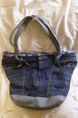Large Denim Bag/Purse