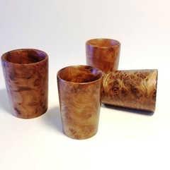 Redwood Burl Shotcups