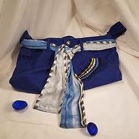 "Handmade Purse - Crossover Strap Repurposed Jeans/Denim ""Malibu Style"""