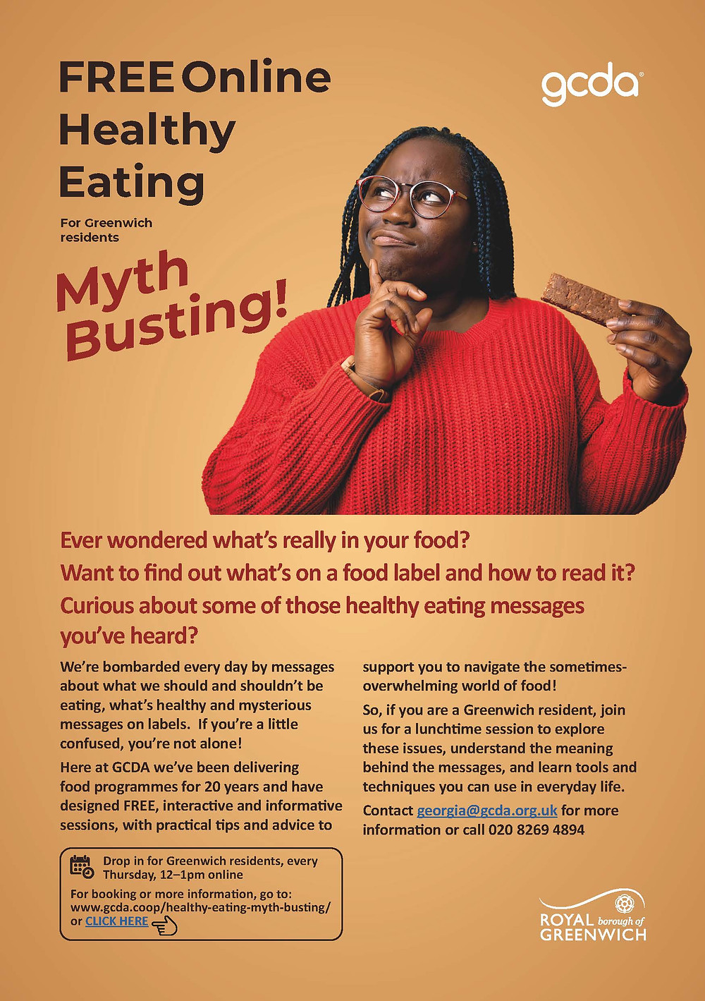 Information on joining our Food Myth Busting drop in