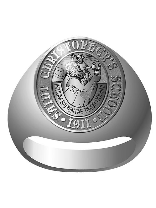 St. Christopher's School Signet Ring- Style 1 C984LX