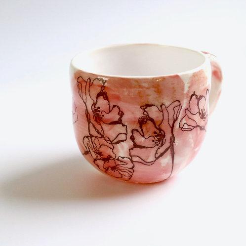 Petals Blush Ceramic Mug
