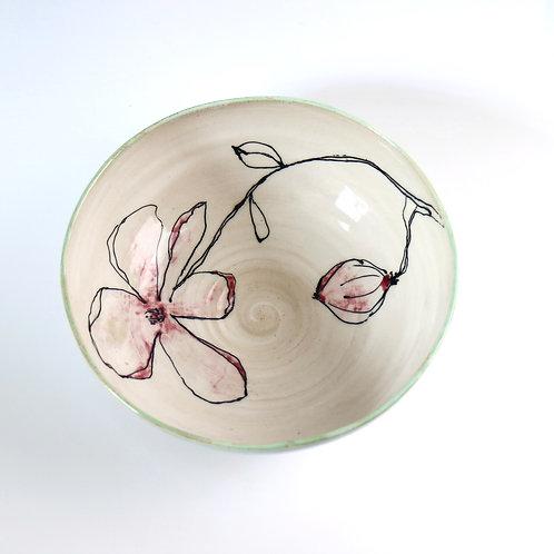 Magnolia Branch Ceramic Salad Bowl