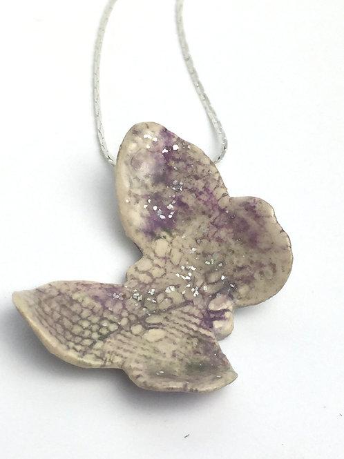 Faded Lilac Butterfly Necklace