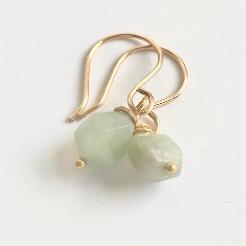 Aventurine Gold Earrings