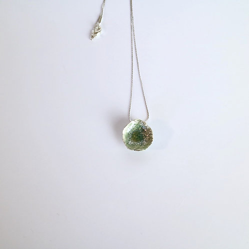 Green Drop Ceramic Necklace