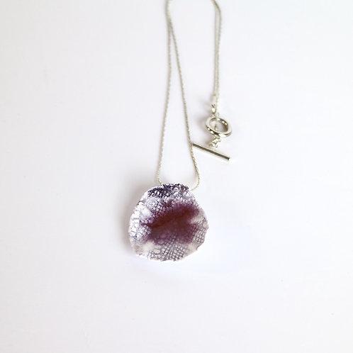 Plum Drop Ceramic Necklace