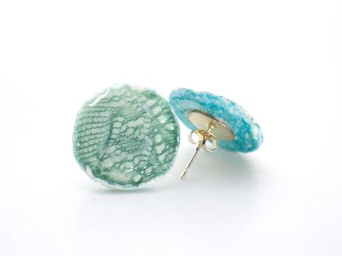 Aqua Green Porcelain Earrings