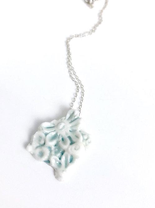 Flower Fragment Porcelain Necklace