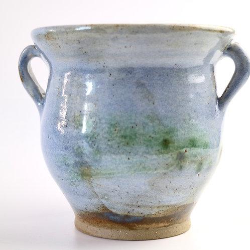 Pale Blue Amphora Ceramic Vase