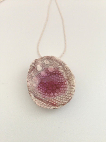 Pink Drop Ceramic Necklace
