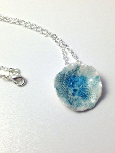 Blue Lake Ceramic Necklace