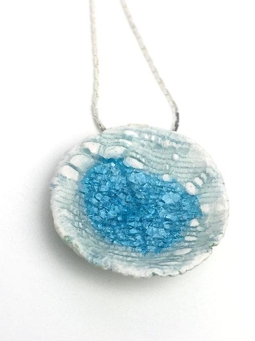 Sky Blue Porcelain Necklace