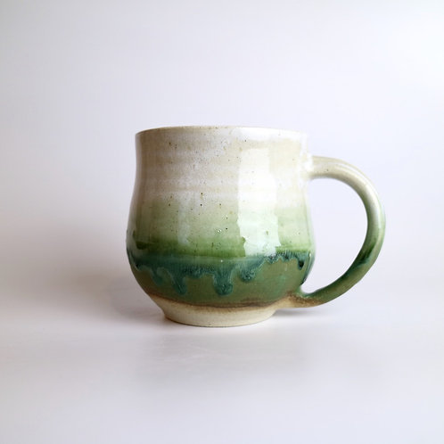 Green Drippy Ceramic Mug