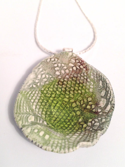 Peardrop Green Porcelain Necklace