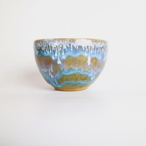 Blue Ripple Ceramic Dip Bowl