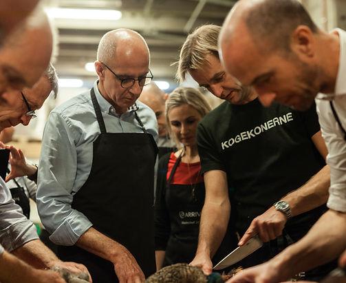 Gastronomisk teambuilding madlavning med Gastrogaragen